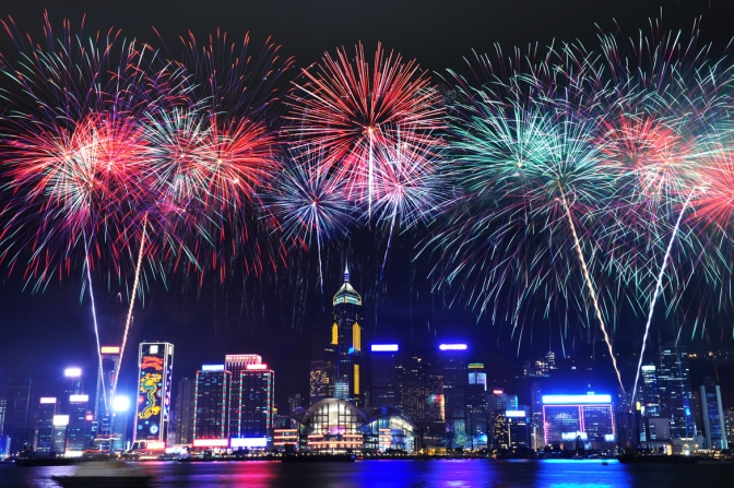 Celebrating New Year's Eve in Hong Kong